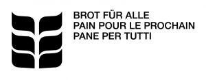 Logo Brot für alle (dreisprachig, s/w)