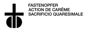 Logo Fastenopfer dreisprachig (s/w)