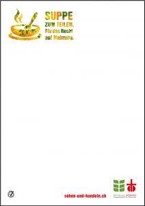 Plakat Suppentag Ökumenische Kampagne