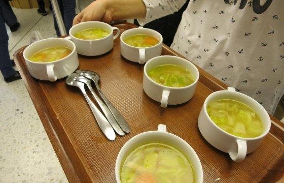 Suppen-Tablett