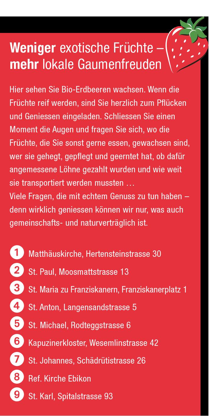 Kampagne 2021 Kirchen Luzern Erdbeerturm